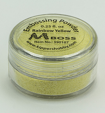 Mboss embossing powder Rainbow Yellow