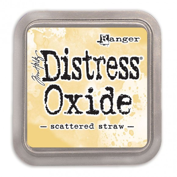 Tim Holtz distress oxide scattered straw
