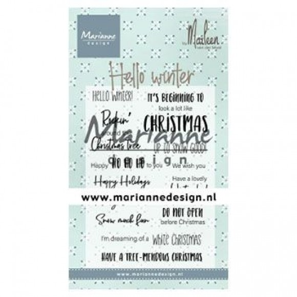 Marianne Design  Clear stamps hello winter by Marleen
