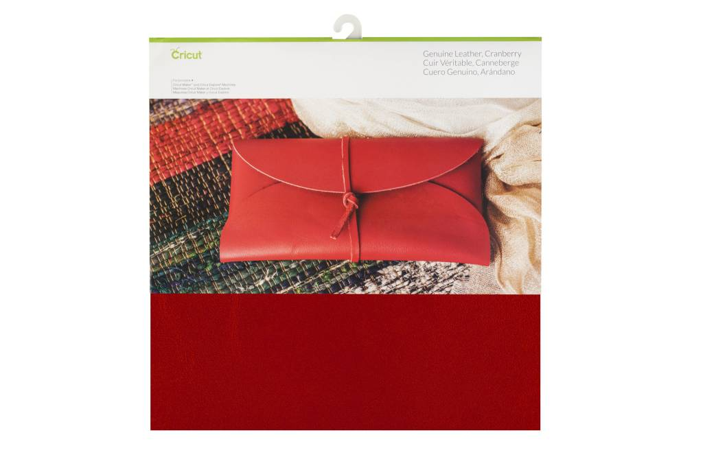 Cricut - Genuine Leather - Cranberry - 12 in.x12 in. (1pcs)