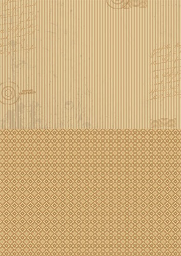 Doublesided background sheets A4 brown stripes