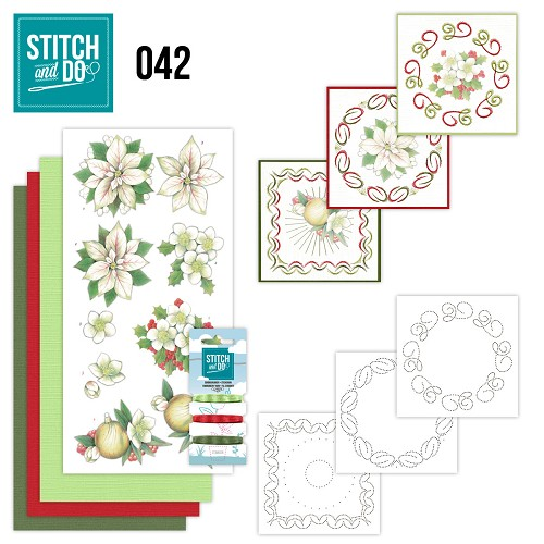 Stitch & Do 42 - White Christmas Flowers