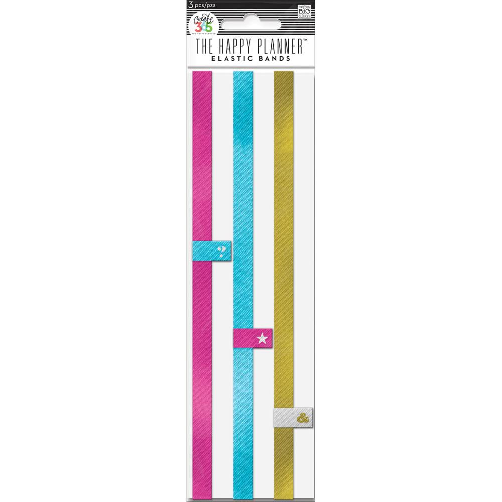 The Happy Planner - Pink/Gold/Teal - Planner Elastic Band