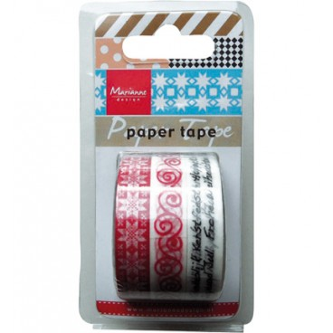 Paper tape Chrismas Red
