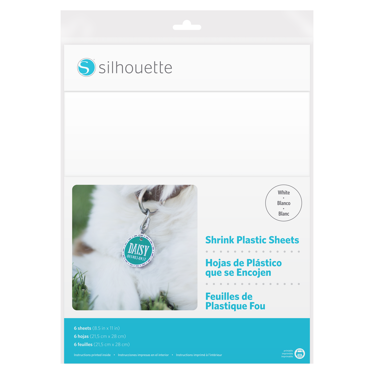 Silhouette Shrink Plastic Sheets - White