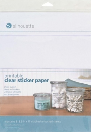 Silhouette Printable Clear Sticker Paper clear