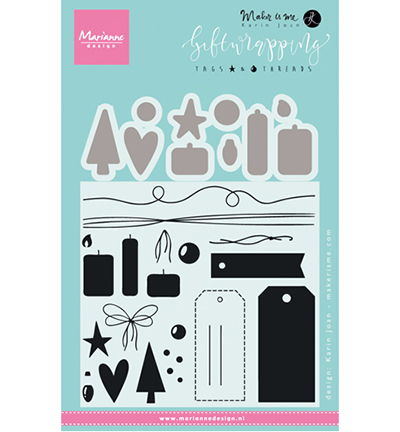 Marianne Design Giftwrapping: Tags & threads