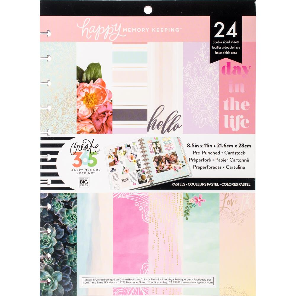 The Happy Planner - Pastels - Happy Memory Paper - Double Sided