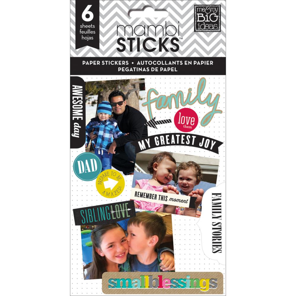 The Happy Planner- Pocket Pages Clear Stickers - Family Love -  6/Pkg