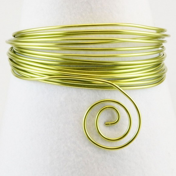 Aluminium wire 1,5mm apple green
