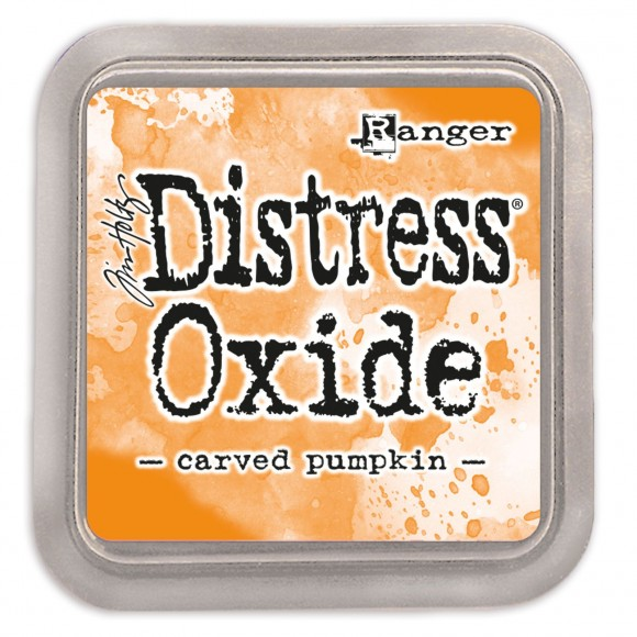 Tim Holtz distress oxide carved pumpkin