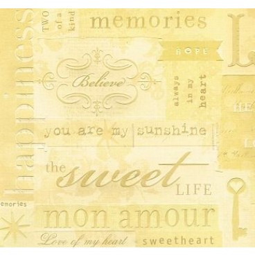 K&Company BW Maison Love Words Embossed Paper