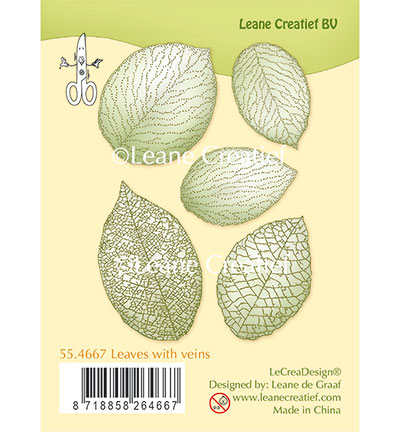 LeCreaDisign Leaves with veins stamp