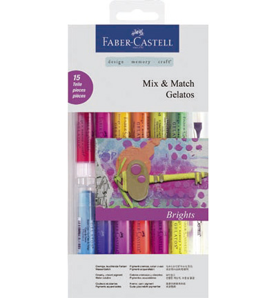 Gelatos Aquarelkrijt Bright Faber Castell