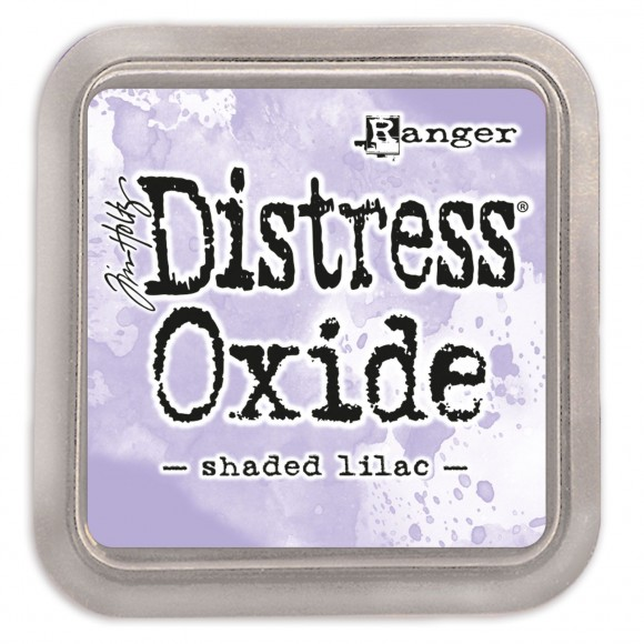 Tim Holtz distress oxide shaded lilac