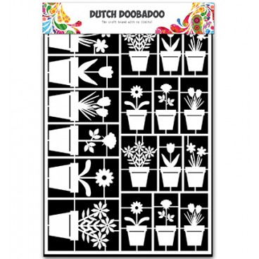 Dutch Paper Art Flower Pots