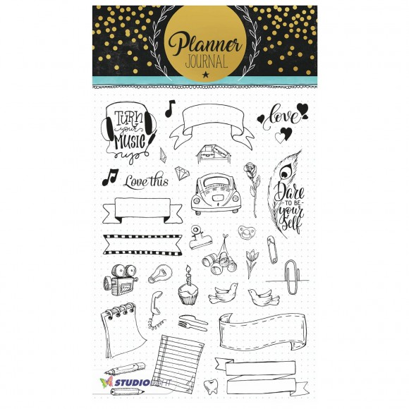 Studio Light - A5 Clearstamp - Planner Journal Nr.08