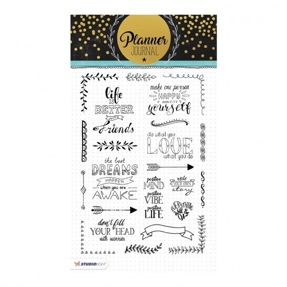 Studio Light - A5 Clearstamp - Planner Journal Nr.03