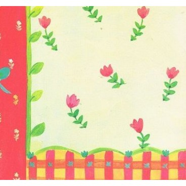 K&Company KH Red & Yellow Floral Border Flat Paper