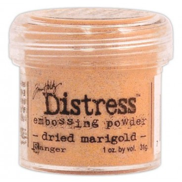 Dried Marigold  Distress embossing powder Tim Holtz