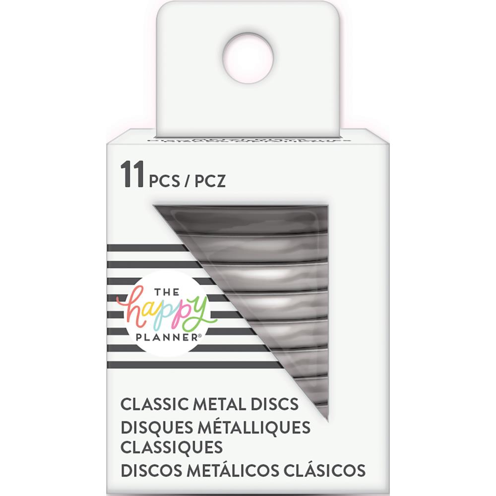 Happy Planner Medium Classic Metal Discs Silver 1.25