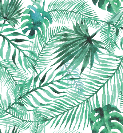 Vegan leer white tropical leaves