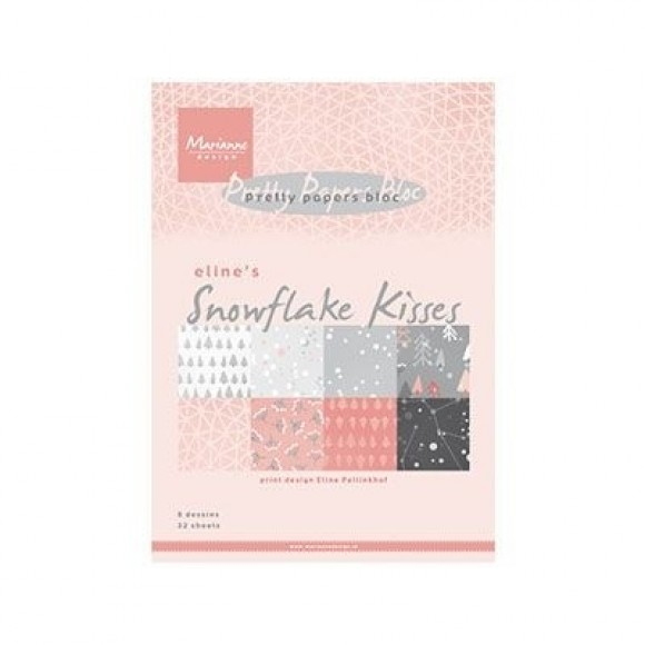 Marianne Design  Pretty papers bloc Eline's snowflake kiss