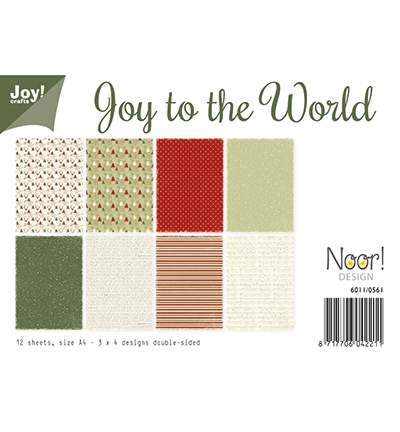 Papierset - Joy to the World (kerst)