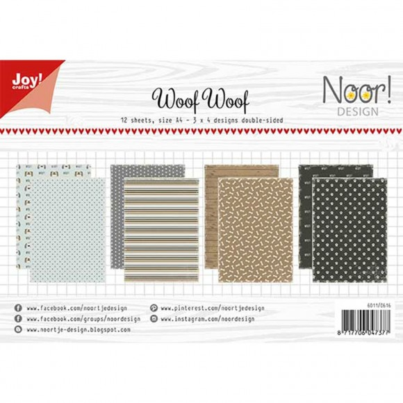 Joy! Crafts - Noor! Design - Woof Woof - 12pcs (double sided)