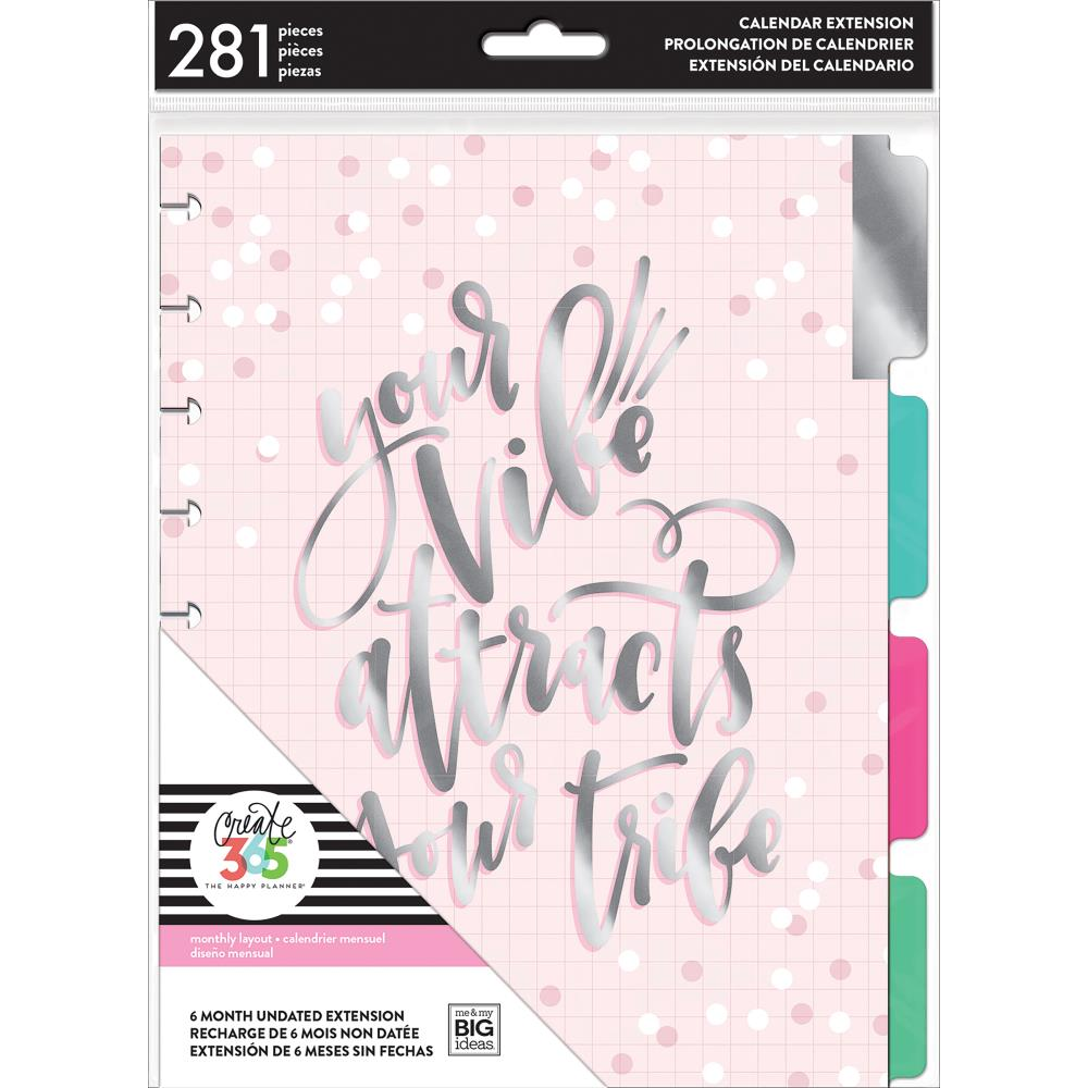 The Happy Planner - 6 Month Undated Extension Pack - Your Vibe - Monthly Layout - 281 pcs