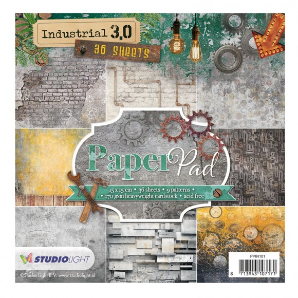 Studio Light paper pad 15x15cm 200g Industrial 3.0 nr. 101