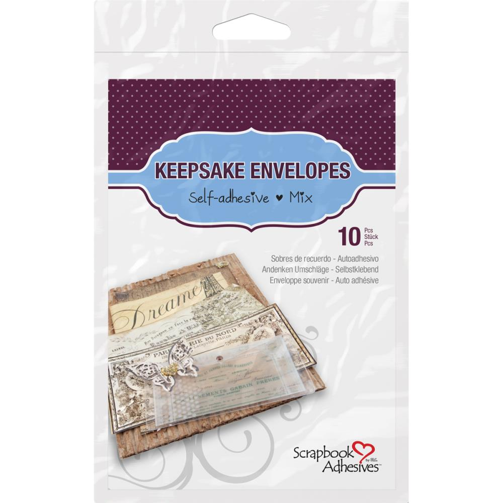 Scrapbook Adhesives - Keepsake Enveloppes - Mix - 10pcs
