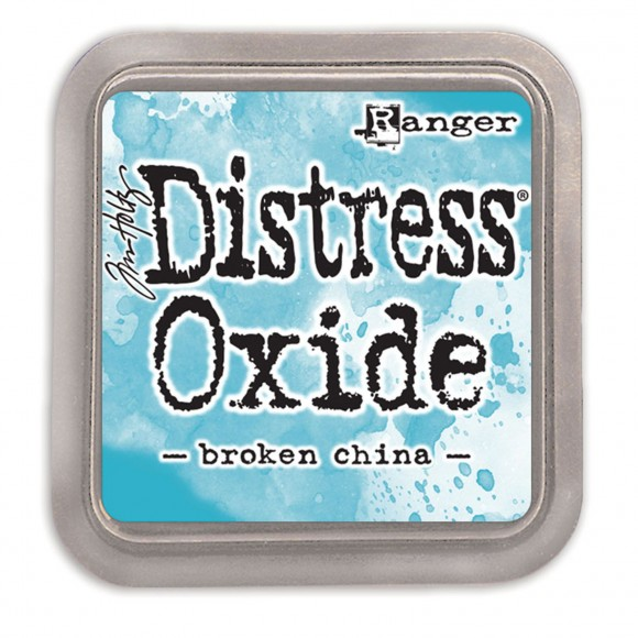 Tim Holtz distress oxide broken china