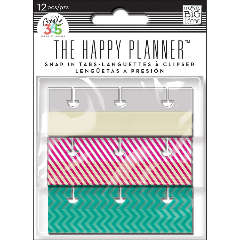 MAMBI - Happy Planner - Adhesive Snap-in Tabs - Brights - 12pcs