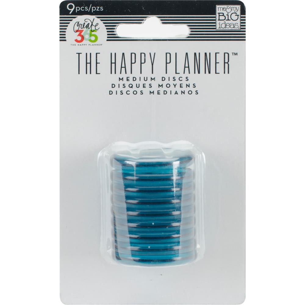 Happy Planner Discs Clear Teal 1.25