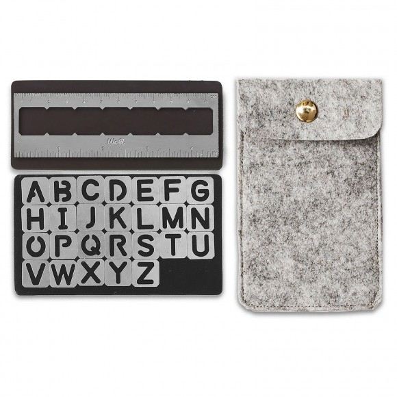 We R Memory Keepers  Magnetic stencils Alphabet