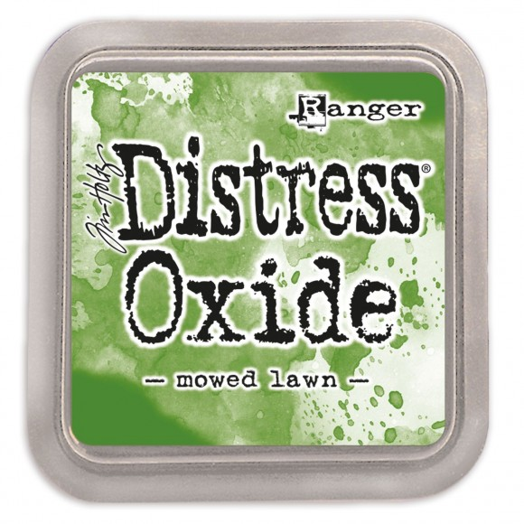 Tim Holtz distress oxide mowed lawn