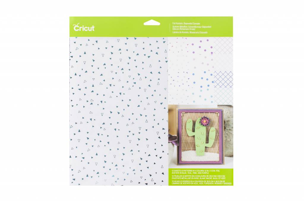 Cricut - Foil Acetate - Bejeweled Sampler - 12 in.x12 in. (12pcs)
