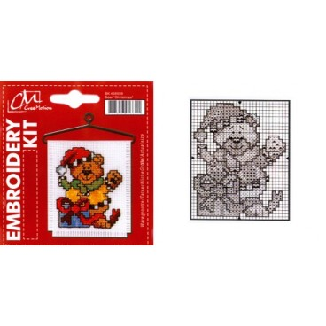Embroidery Kit  Bear Christmas