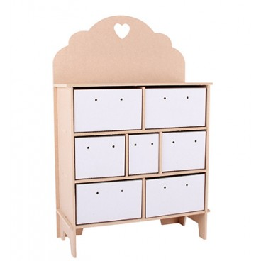 Verzamelkastje - 3D Chest Drawers Heart