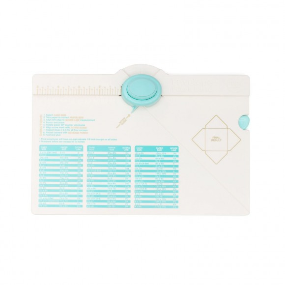 We R Memory Keepers - Enveloppe Punch Board - White / Mint - 1pcs