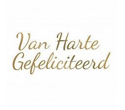 Couture Creations -  Hotfoil Stamp Van Harte Gefeliciteerd