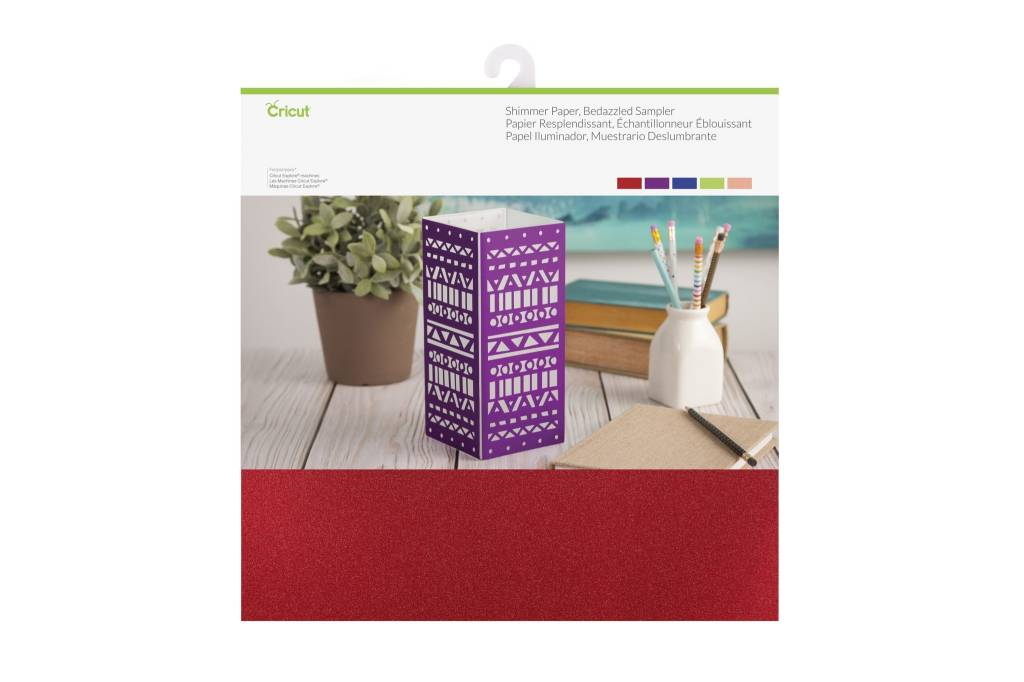 Cricut - Shimmer Paper - Bedazzled Sampler - 12 in.x12 in. (10pcs)