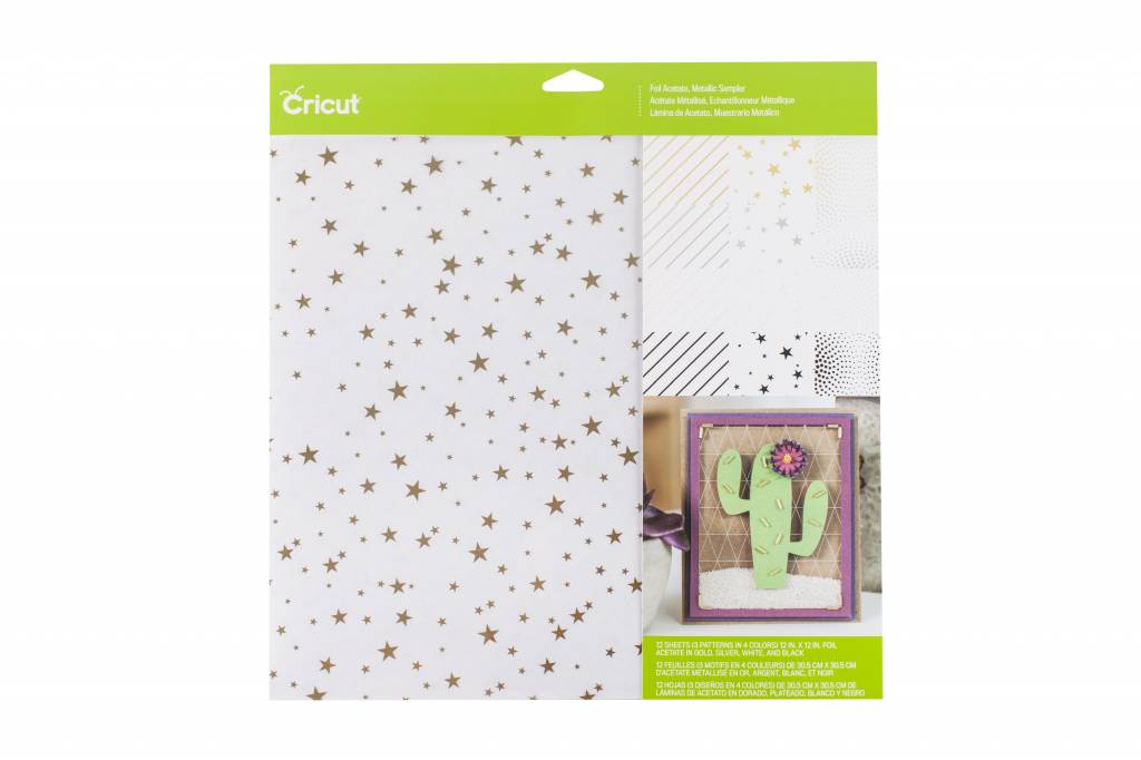 Cricut - Foil Acetate - Metallic Sampler - 12 in.x12 in. (12pcs)