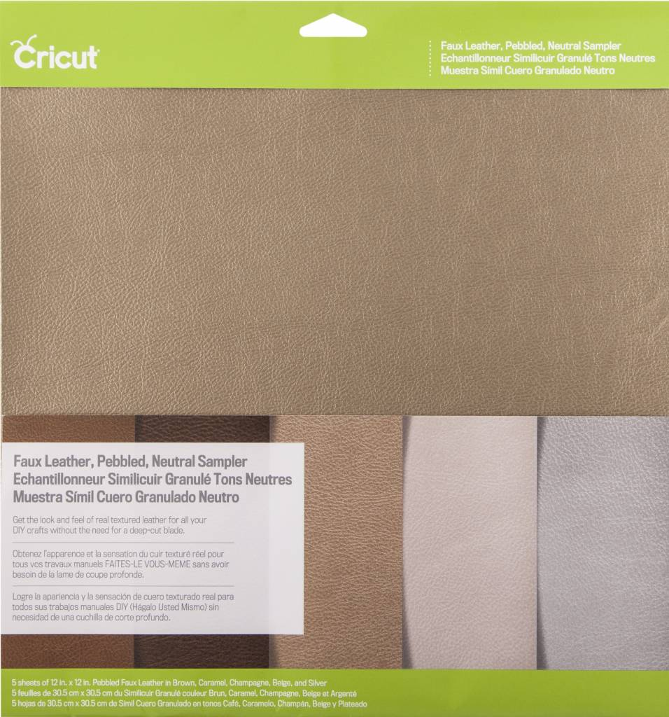 Cricut - Faux Leather - Pebbled - Neutral Sampler - (5pcs)