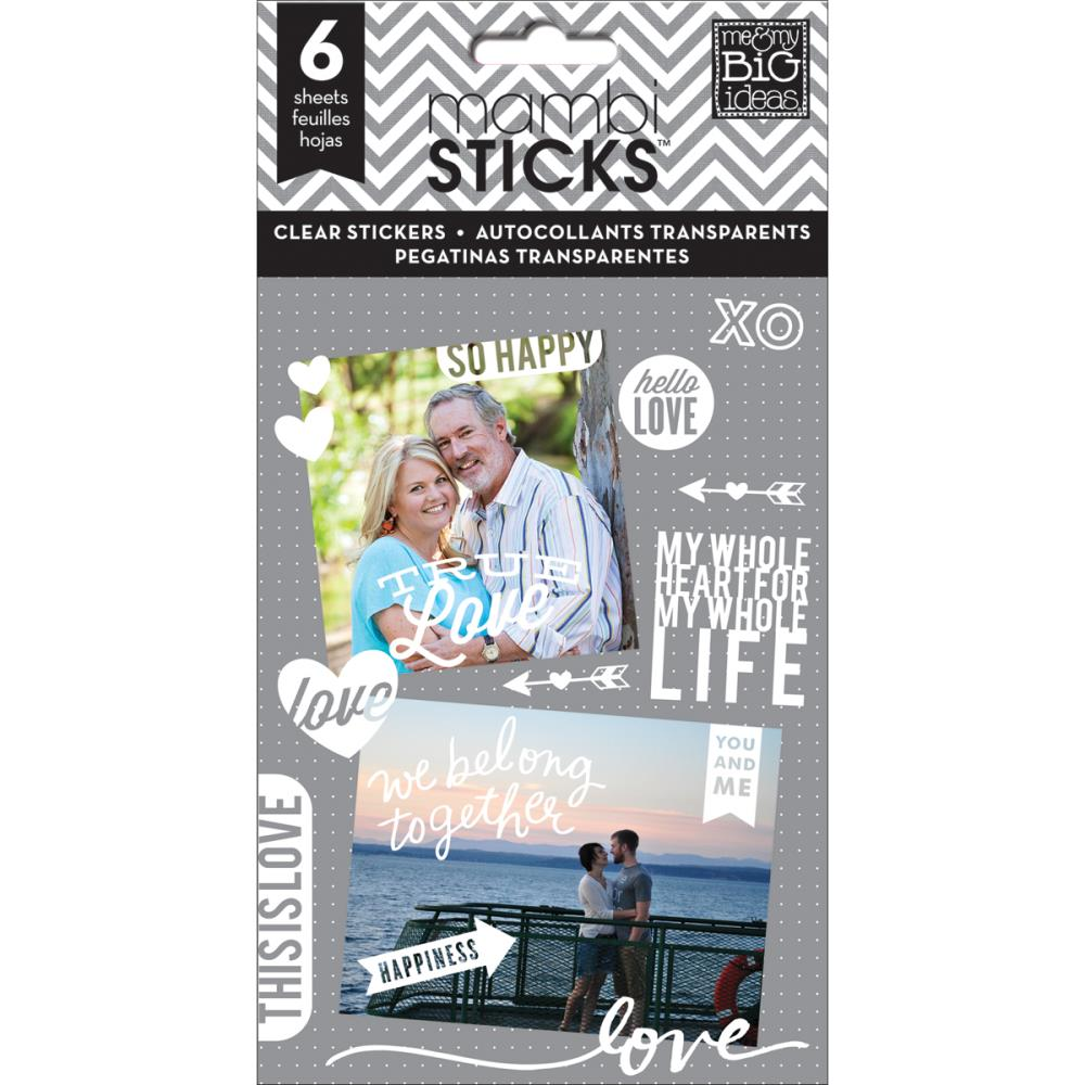 The Happy Planner- Pocket Pages Clear Stickers - True Love -  6/Pkg