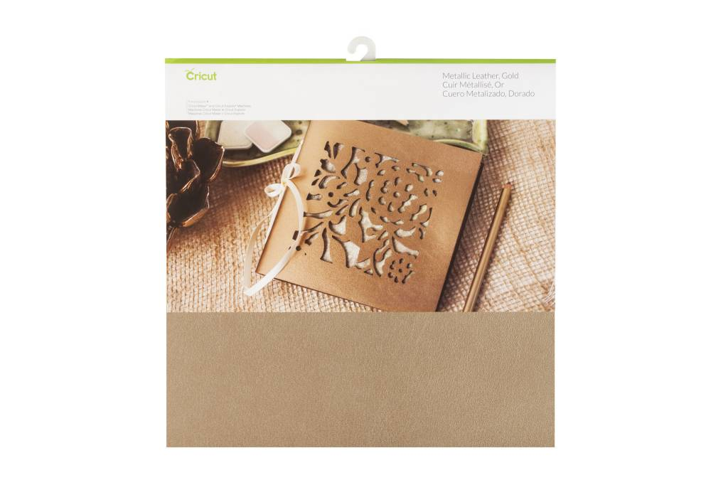 Cricut - Metallic Leather - Gold - 12 in.x12 in. (1pcs)