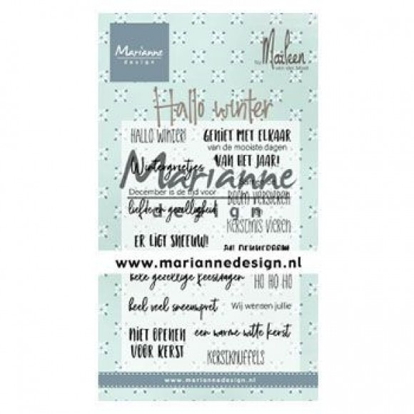 Marianne Design  Clear stamps hallo winter by Marleen