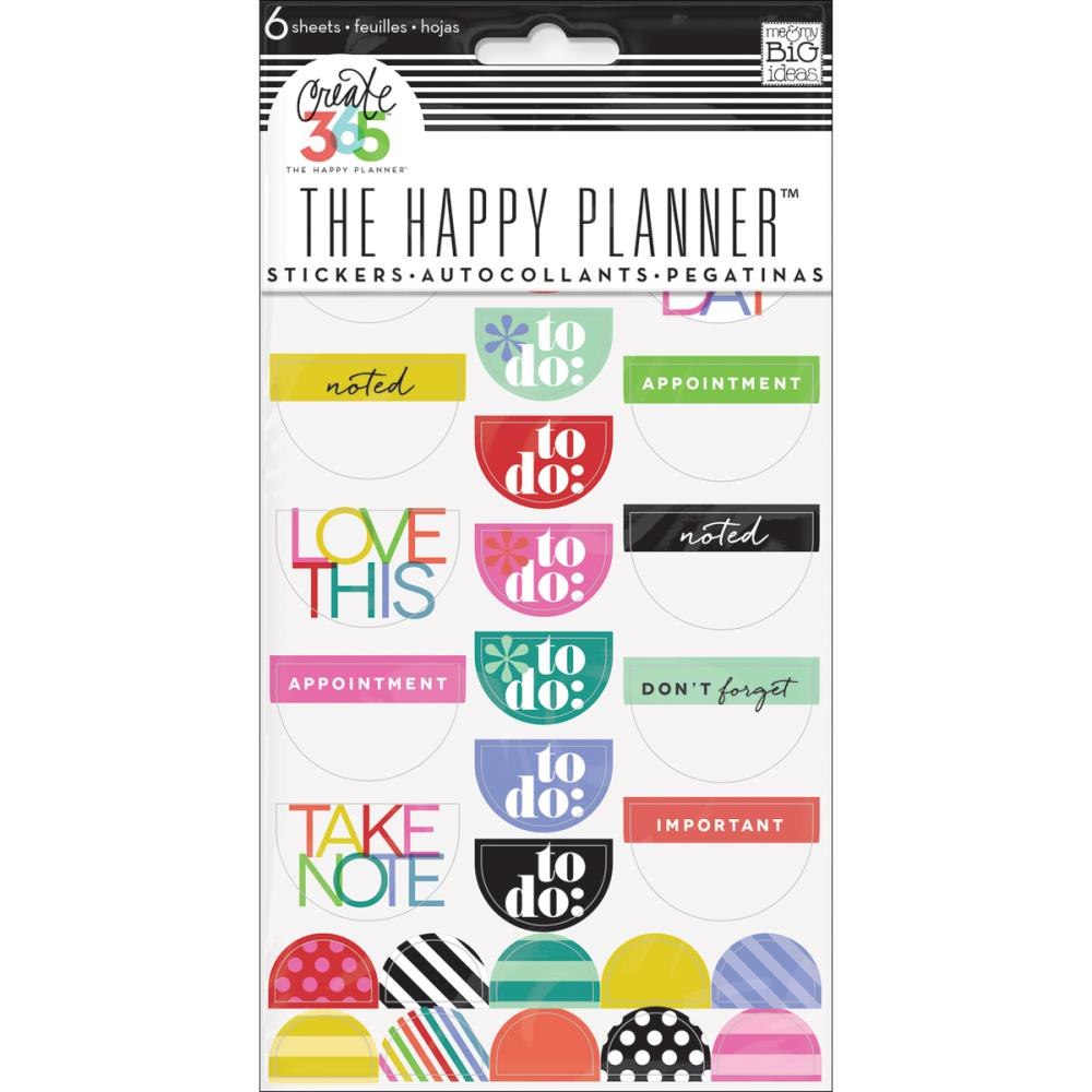 The Happy Planner - Stickerpack - To Do, Brights - (6sheets)