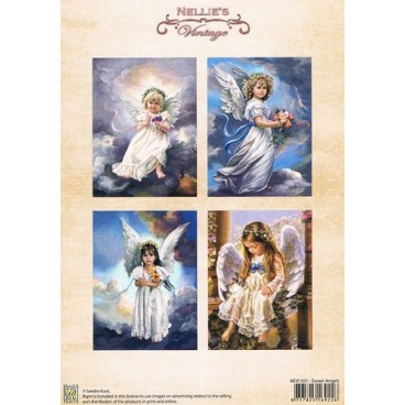 Sheet colour vintage Sweet angels